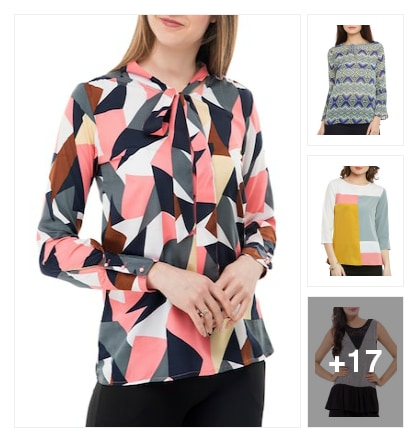 Geometric tops . Online shopping look by sandhya