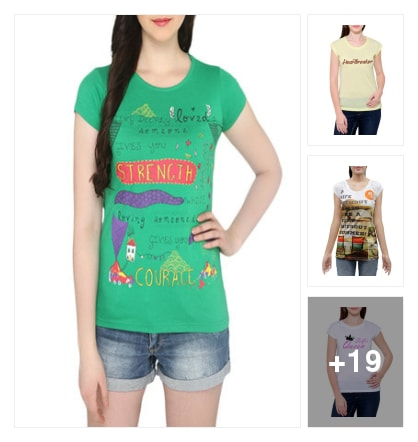 Tees. Online shopping look by chandu