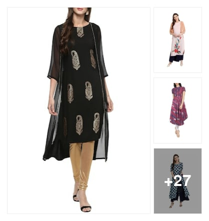 Trending kurtas. Online shopping look by Ruchika
