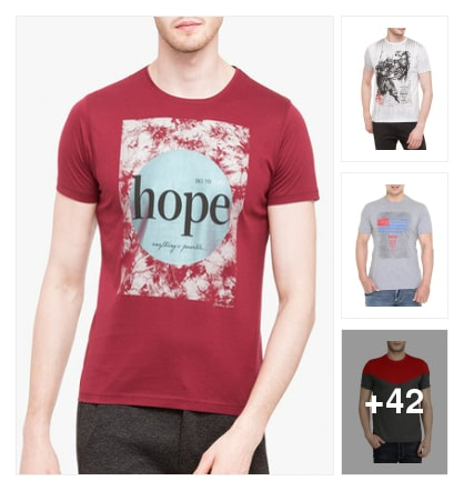 TSHIRTS FOR MEN. Online shopping look by vihaan