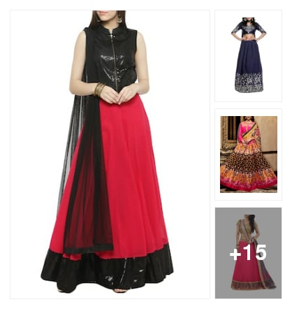Beautiful lehangas for women. Online shopping look by sangeetha