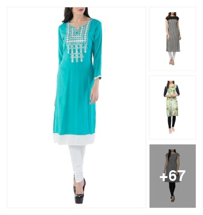 Beautiful kurtis under 399/-. Online shopping look by Jayasmita
