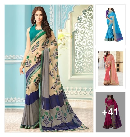SAREES. Online shopping look by rama