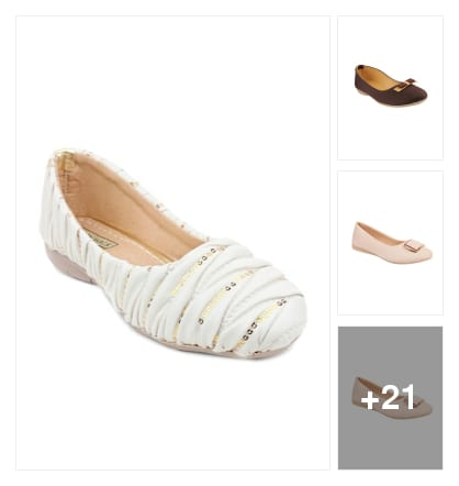 Flats. Online shopping look by jesunath
