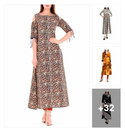 Favourite pick :- flared kurta perfect for U 👇. Online shopping look by Kinki
