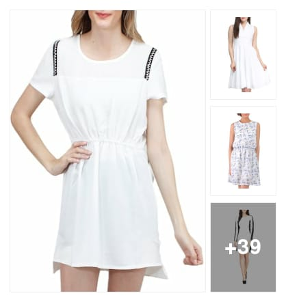 Summer whites. Online shopping look by Sudha