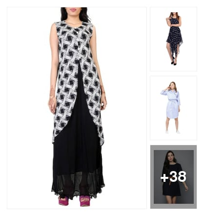 Beautiful dresses. Online shopping look by Visu