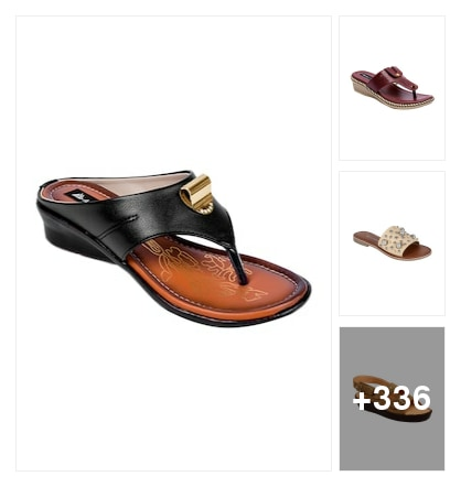Slippers and flip flops for comfortable ladies. Online shopping look by chinni