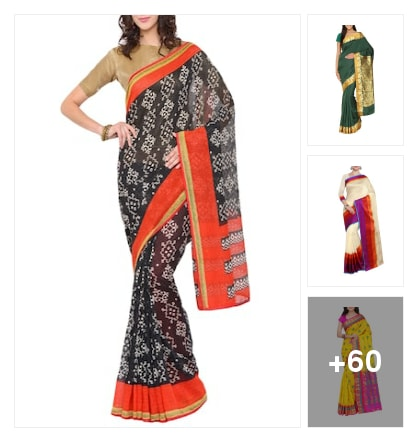 colorful sarees. Online shopping look by rama