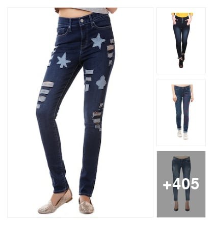 Jeans & leggings collations. Online shopping look by chinna