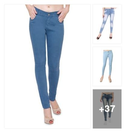 Best quality denim jeans for girls . Online shopping look by Geeta