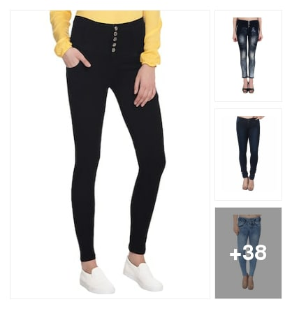 Girl's comfortableJeans. Online shopping look by deepa