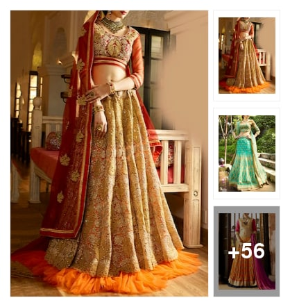 For lehenga addicted . Online shopping look by #Hitesh tuhania