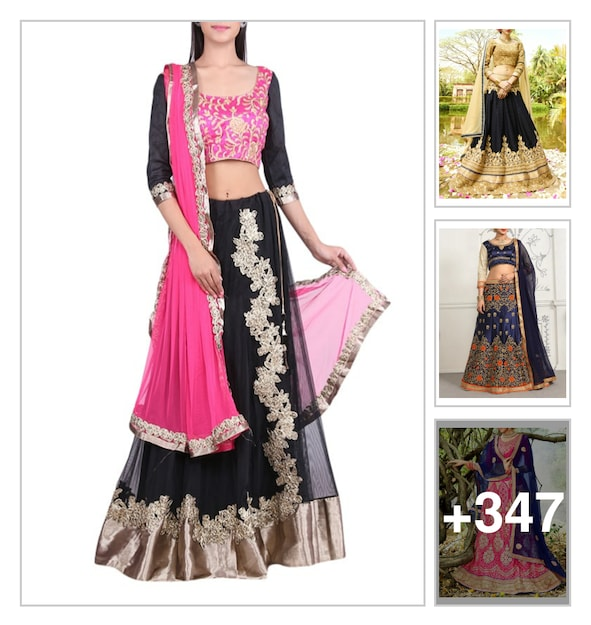 Events and party wear lehangas . Online shopping look by sravani