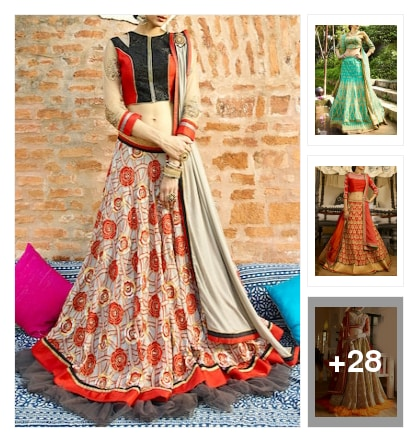 awesome lehengas. Online shopping look by rishi