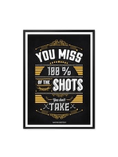 Wayne Gretzky Inspirational Wall Decor Typography Framed Poster - Lab No. 4 - The Quotography Department