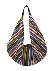 Multi-colored Canvas Handbag - By