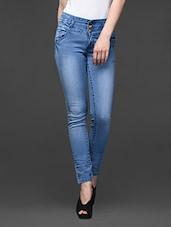Skinny Ankle Length Denim Jeans - By