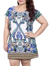 Multi Colored Polyester  Shift Dress - By