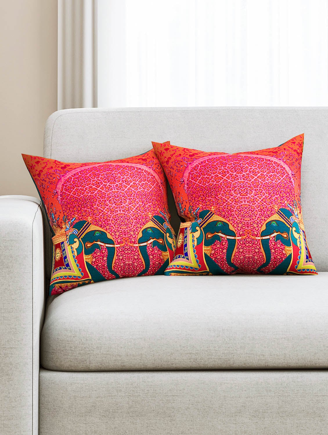Sej Abstract Orange Hd Digital Premium 16 By Inch Cushion Cover Set Of 2 Sbccdp0042p For Uni From Nisha Gupta 664 At 17 Off
