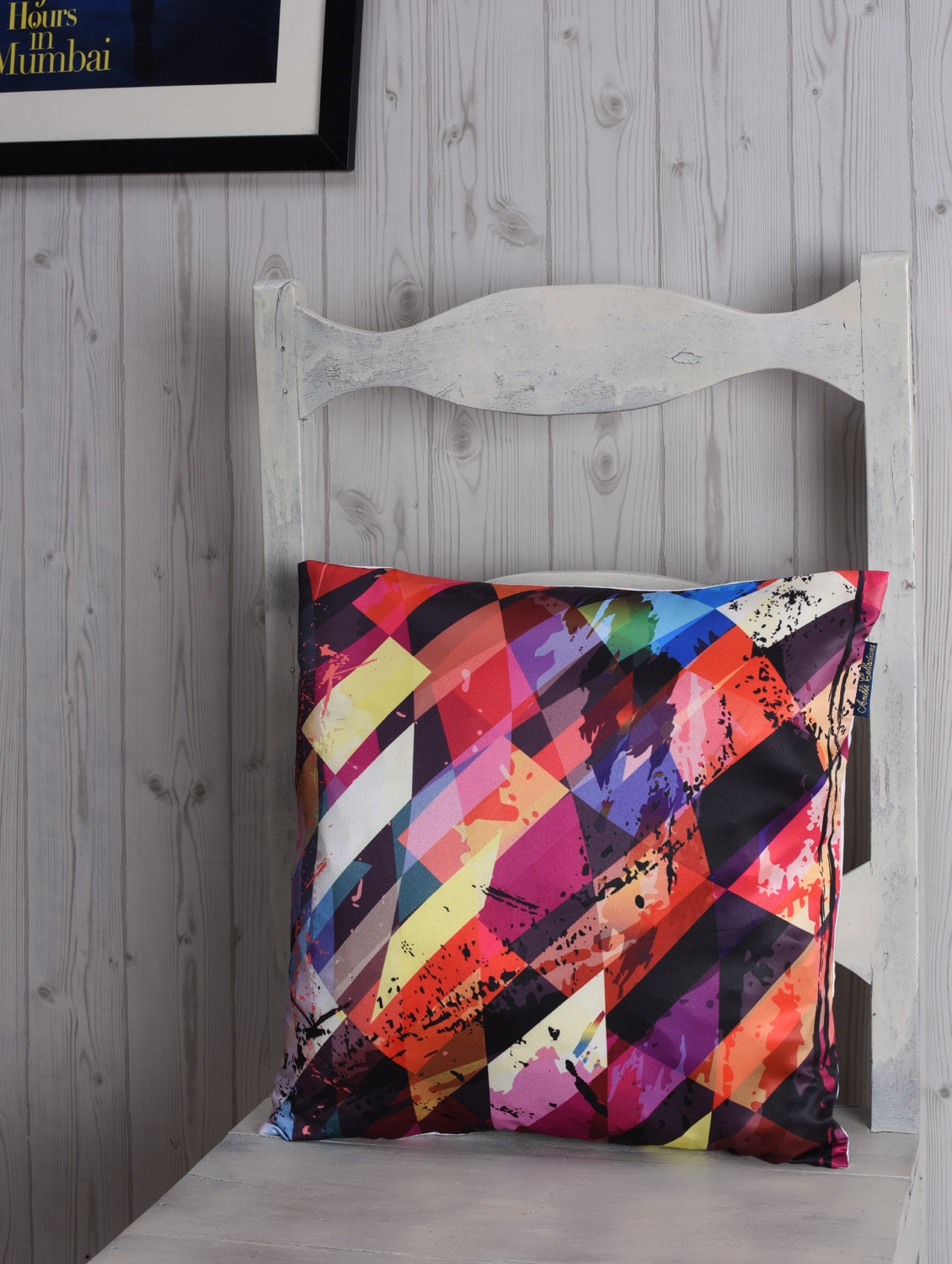 abstract printed polyster cushion cover