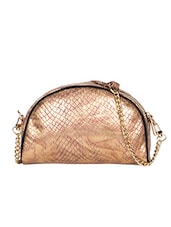Copper,  Black Leatherette Regular Clutch - By