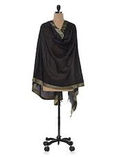 Black Cotton Silk Dupatta - Inara Robes