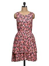 Floral Print Sleeveless Dress - Ozel Studio