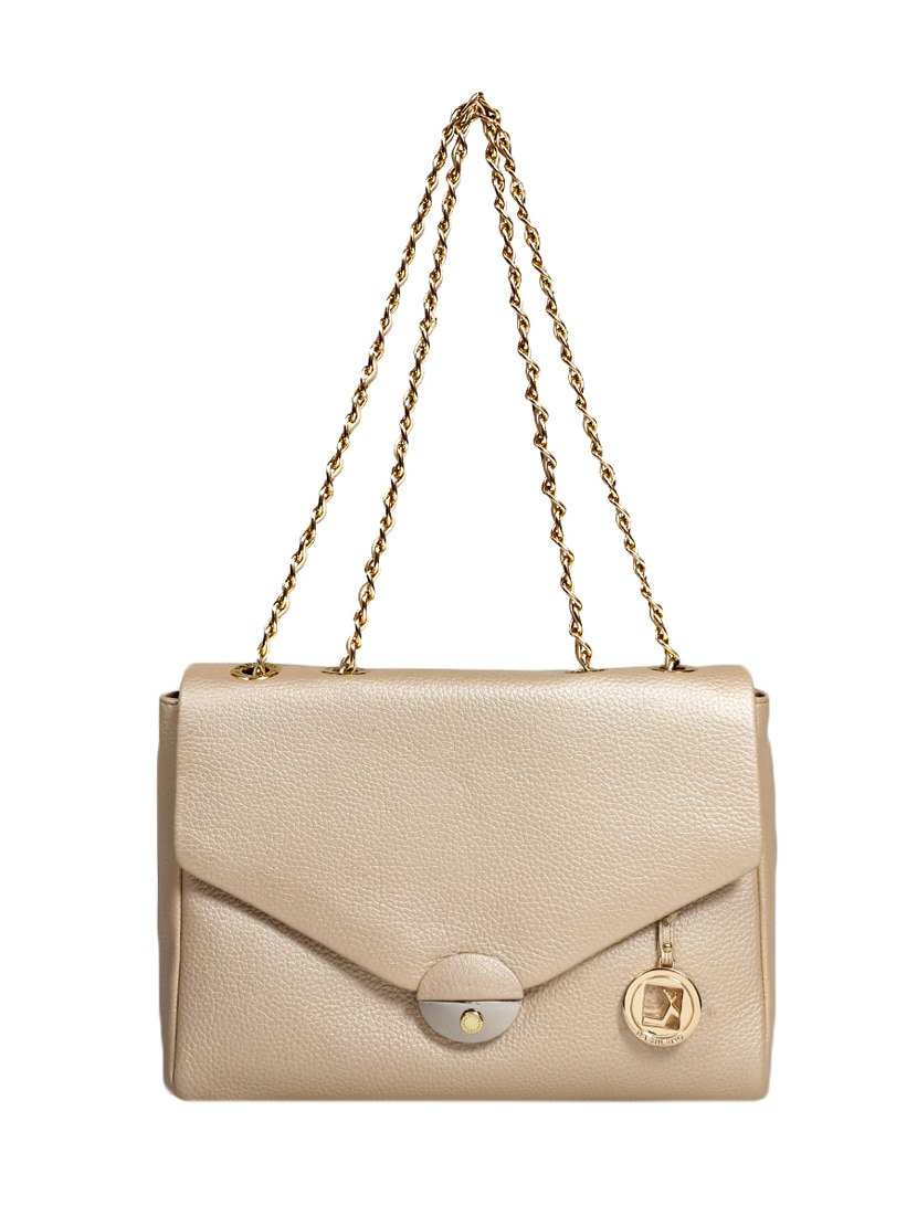 91b45b5bf Buy Gold Textured Leather Slingbag for Women from Da Milano for ...