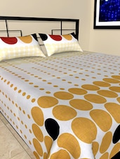 Multicolor Dotted Bed Sheet Pillow Cover Set - Onlinemaniya