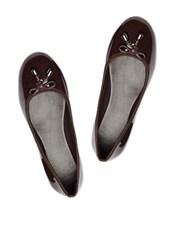 Sophisticated Chocolate Brown Ballerina Flats - Bruno Manetti