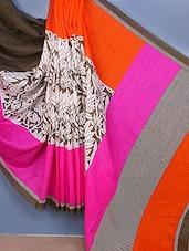 Multi Printed Bhagalpuri Silk Saree - Fabdeal
