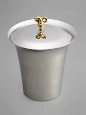Stainless Steel Ice Bucket With Tong - Sage Koncpt