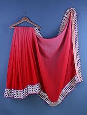 Red Cotton Zari Embroidered Saree - Suchi Fashion