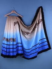 Multicolour Cotton Zari Embroidered Saree - Suchi Fashion