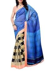 Geometric Printed Office Wear Saree - Ambaji