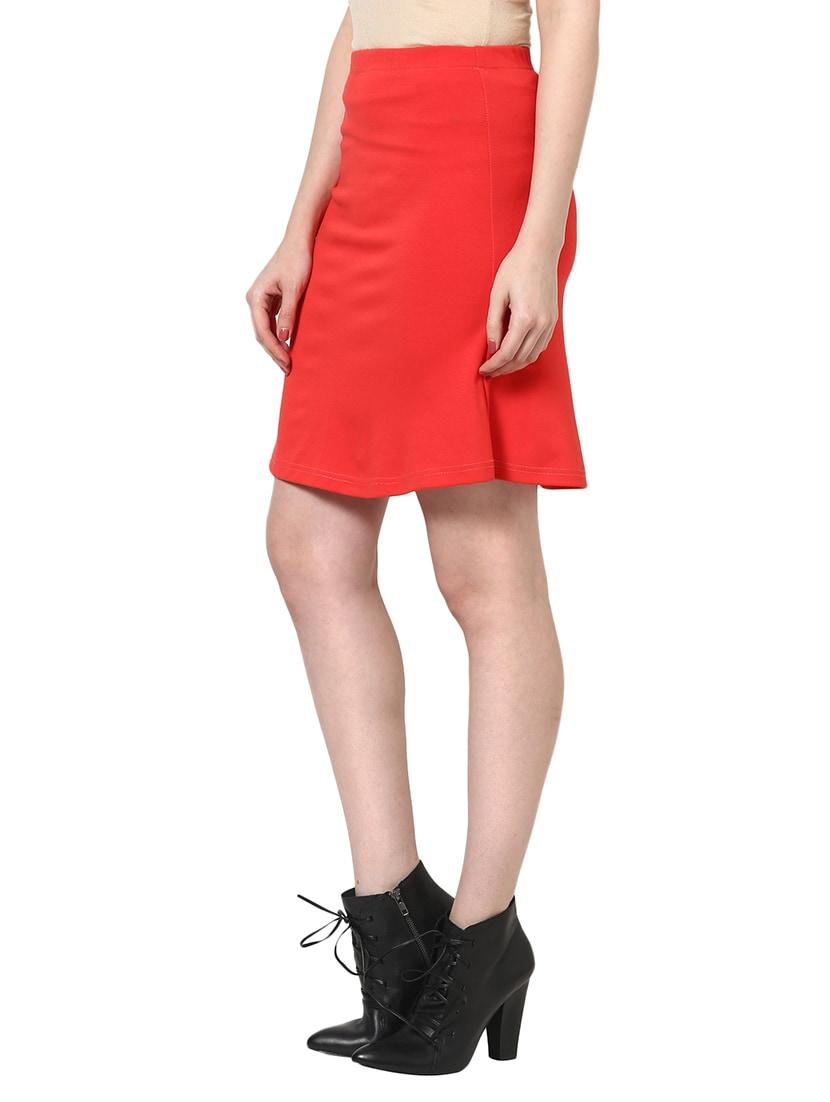 f825a6c23 Green Midi Skirt Online India | Saddha