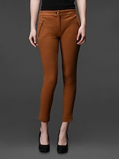 Tan Cotton Knitted  Jegging - Rider Republic