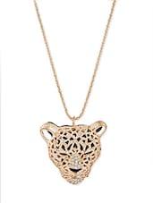 Silver Acrylic Leopard Shaped Pendant With Silver Coloured Chain - Hedoneesta