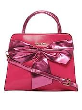 Shiny Pink Bow Pink Handbag - KIARA