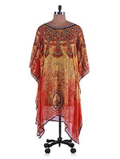 Yellow And Orange Georgette Kurti - Admyrin
