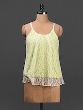 Lime Green Lace Top - Ridress