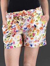 Floral Print Cotton Shorts - Ridress