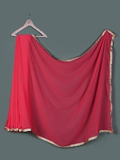 Zari Border Georgette Saree - Get Style At Home