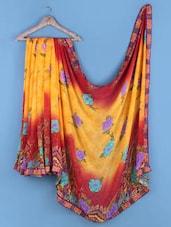 Multicoloured Floral Print Art Silk Saree - Shrimatiji Sarees