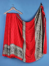 Multicolor  Crepe Silk Paisley Saree - Saraswati