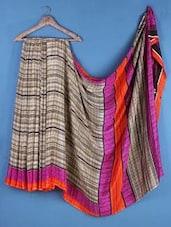 Multicolor  Crepe Silk  Saree - Saraswati