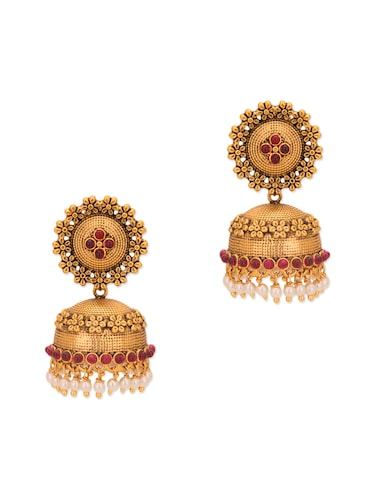 gold copper earring - 10119253 - Standard Image - 1