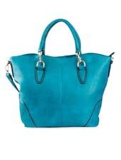 Plain Blue PU Handbag - Lalana