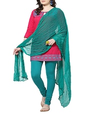 Rama Green Chiffon Plain  Dupatta - By